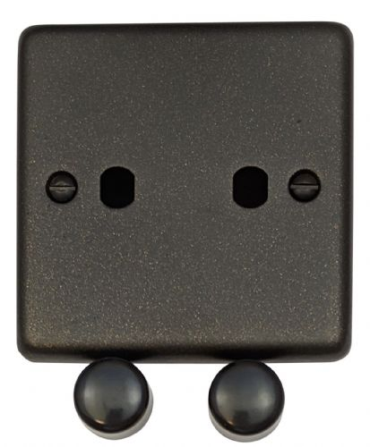 G&H CG12-PK Standard Plate Graphite 2 Gang Dimmer Plate Only inc Dimmer Knobs